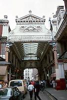 London:  Leadenfield Market 1881.  Sir Horace Jones.  Southside (Lime Street)--EC3.  Photo '87.