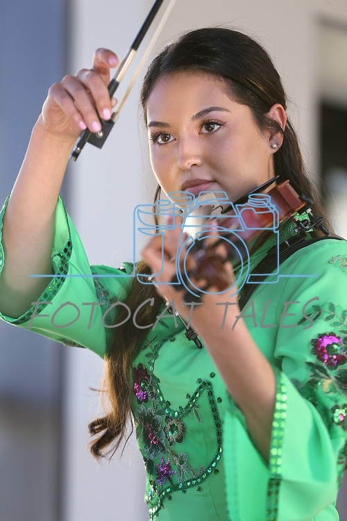 Ingrid Carlson, 20, performs at the Chinese New Year Celebration at the Nevada State Museum in Carson City, Nev., on Saturday, Feb. 16, 2018. <br />Photo by Cathleen Allison/Nevada Momentum