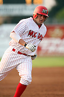 July 19th, 2007:  Andrew Brown of the Batavia Muckdogs, Short-Season Class-A affiliate of the St. Louis Cardinals at Dwyer Stadium in Batavia, NY.  Photo by:  Mike Janes/Four Seam Images