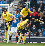 Lee McCulloch loses out in the stramash