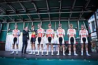 Team Corendon Circus with Belgian Champion Tim Merlier (BEL/Corendon Circus) at the pre race team presentation<br /> <br /> Antwerp Port Epic 2019 <br /> One Day Race: Antwerp > Antwerp 187km<br /> <br /> ©kramon