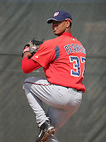 Washington Nationals minor leaguer Anthony Pearson during Spring Training at the Carl Barger Training Complex on March 19, 2007 in Melbourne, Florida.  (Mike Janes/Four Seam Images)