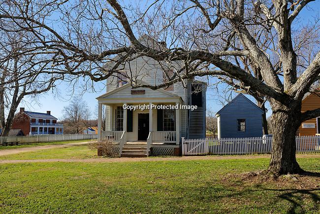 Appomattox Court House, Virginia, site of the surrender ending the Civil War.