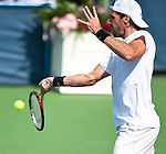 Tommy Hass of Germany during his semifinal match at the Citi Open in Washington, DC on August 4, 2012.