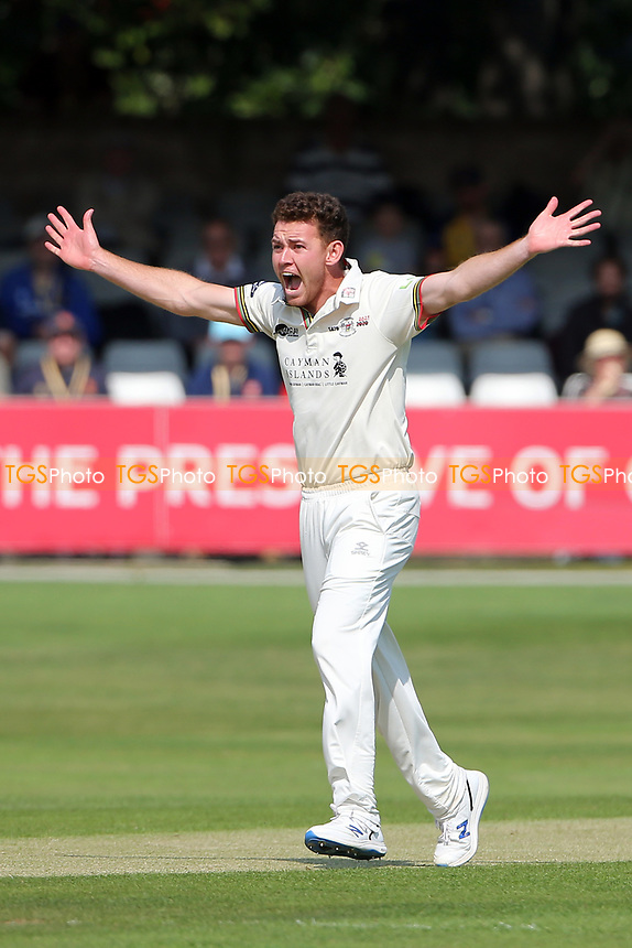 Ryan Higgins of Gloucestershire appeals for a wicket during Essex CCC vs Gloucestershire CCC, LV Insurance County Championship Division 2 Cricket at The Cloudfm County Ground on 5th September 2021