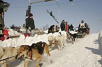 March 3, 2007  Mike Williams during the Iditarod ceremonial start day in Anchorage