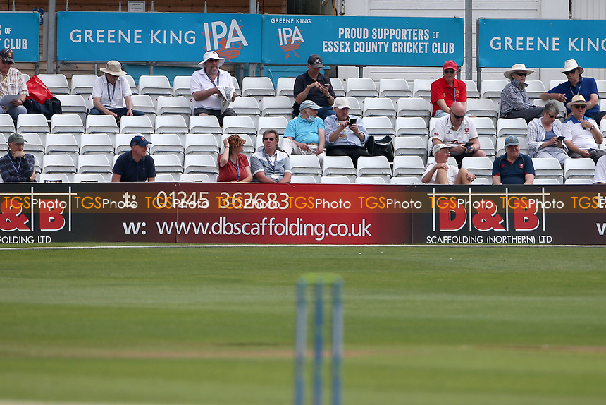 Spectators look on ahead Essex CCC vs Nottinghamshire CCC, LV Insurance County Championship Group 1 Cricket at The Cloudfm County Ground on 3rd June 2021