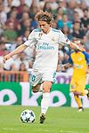 Real Madrid's Luka Modric during UEFA Champions League match between Real Madrid and Apoel at Santiago Bernabeu Stadium in Madrid, Spain September 13, 2017. (ALTERPHOTOS/Borja B.Hojas)