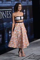 Maisie Williams @ the Los Angeles premiere of HBO 'Game of Thrones' season 6 held @ the Chinese theatre.<br /> April 10, 2016