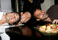 "Novak Djokovic, Nenad Zimonjic, Players Party, Novak restaurant, ATP 250 series tennis tournament ""Serbia Open"" in Belgrade, Serbia, Tuesday, April 26. 2011. (photo: Pedja Milosavljevic / SIPA PRESS)"