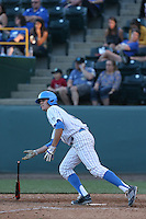 Sean Bouchard (5) of the UCLA Bruins bats during a game against the Hofstra Pride at Jackie Robinson Stadium on March 14, 2015 in Los Angeles, California. UCLA defeated Hofstra, 18-1. (Larry Goren/Four Seam Images)
