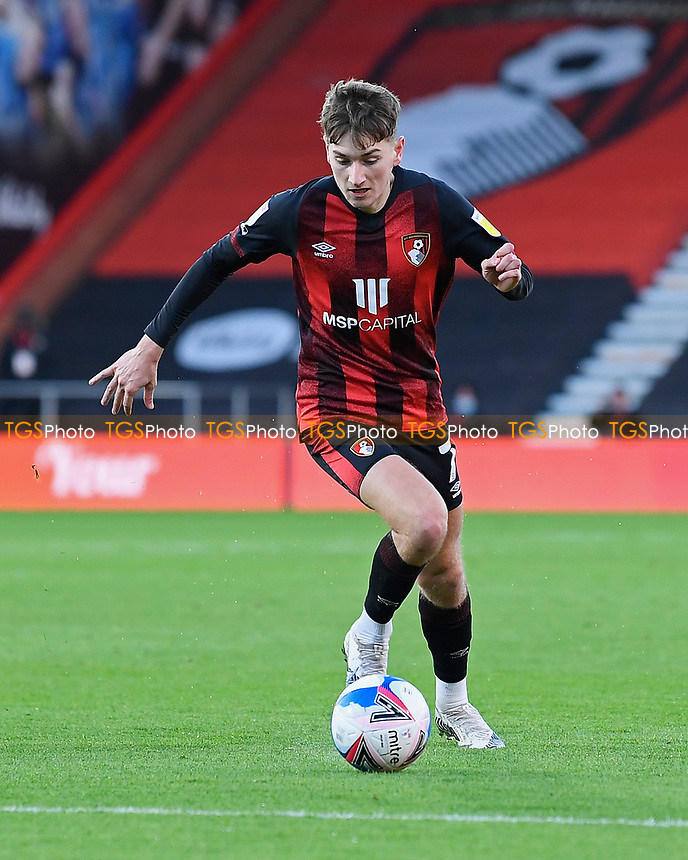 David Brooks of AFC Bournemouth during AFC Bournemouth vs Huddersfield Town, Sky Bet EFL Championship Football at the Vitality Stadium on 12th December 2020