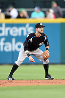 Syracuse Chiefs second baseman Jeff Kobernus (23) during a game against the Buffalo Bisons on July 23, 2014 at Coca-Cola Field in Buffalo, New  York.  Syracuse defeated Buffalo 5-0.  (Mike Janes/Four Seam Images)