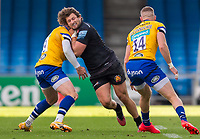 Exeter Chiefs' Alec Hepburn in action during todays match<br /> <br /> Photographer Bob Bradford/CameraSport<br /> <br /> Gallagher Premiership Semi-Final - Exeter Chiefs v Bath Rugby - Saturday 10th October 2020 - Sandy Park - Exeter<br /> <br /> World Copyright © 2020 CameraSport. All rights reserved. 43 Linden Ave. Countesthorpe. Leicester. England. LE8 5PG - Tel: +44 (0) 116 277 4147 - admin@camerasport.com - www.camerasport.com