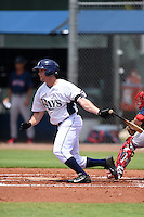 GCL Rays outfielder Patrick Grady (24) at bat during a game against the GCL Red Sox on June 24, 2014 at Charlotte Sports Park in Port Charlotte, Florida.  GCL Red Sox defeated the GCL Rays 5-3.  (Mike Janes/Four Seam Images)