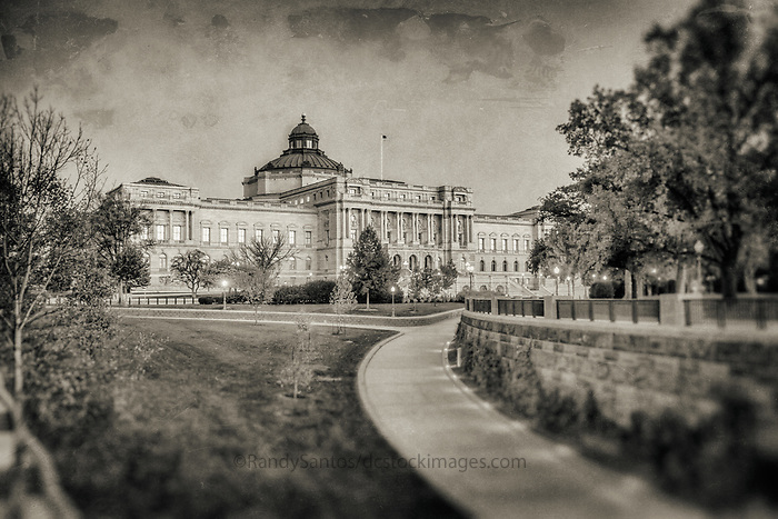 Library of Congress Washington DC Black and White Photography Washington DC Art - - Framed Prints - Wall Murals - Metal Prints - Aluminum Prints - Canvas Prints - Fine Art Prints Washington DC Landmarks Monuments Architecture