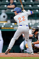 St. Lucie Mets first baseman Brian Harrison #22 during a game against the Bradenton Marauders on April 12, 2013 at McKechnie Field in Bradenton, Florida.  St. Lucie defeated Bradenton 6-5 in 12 innings.  (Mike Janes/Four Seam Images)
