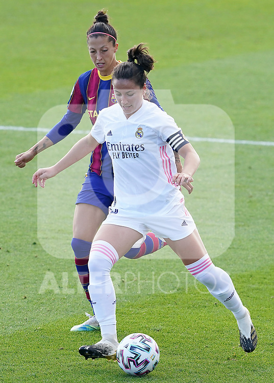 First official match and first classic in the history of women's Real Madrid.<br /> Real Madrid's Ivana Andres (r) and FC Barcelona's Jennifer Hermoso during Spanish Female League match. October 4,2020. (ALTERPHOTOS/Acero)