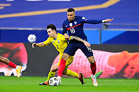 24th March 2021; Stade De France, Saint-Denis, Paris, France. FIFA World Cup 2022 qualification football; France versus Ukraine;  MBAPPE KYLIAN (France) challenges Mykola Shaparenko (Ukraine)
