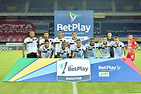 PEREIRA - COLOMBIA,1-12-2020:Deportivo Pereira y Águilas Doradas Rionegro durante partido de la fecha 2 por la Liguilla BetPlay DIMAYOR 2020 jugado en el estadio Hernán Ramírez Villegas de la ciudad de Pereira. / Deportivo Pereira and Aguilas Doradas Rionegro during a match of the 2st date for the BetPlay DIMAYOR Liguilla 2020 played at the  Hernán Ramirez Villegas Stadium in Pereira city. / Photos: VizzorImage / Pablo Bohórquez / Contribuidor