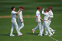 Canterbury's Matt Henry celebrates a wicket during day two of the Plunket Shield match between the Wellington Firebirds and Canterbury at Basin Reserve in Wellington, New Zealand on Tuesday, 20 October 2020. Photo: Dave Lintott / lintottphoto.co.nz