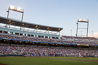 A general view of TD Ameritrade Park during a game between the Miami Hurricanes and Florida Gators at TD Ameritrade Park on June 13, 2015 in Omaha, Nebraska. (Brace Hemmelgarn/Four Seam Images)