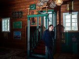 Dzemil Gembicki the keeper of the mosque in Kruszyniany. Poland<br /> Kruszyniany village in East Poland where Muslims, Catholics and Orthodox live togethe. <br /> <br /> Photo: Adam Lach, n-ost,  Napo Images