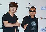 Yoon Do-Hyun and  Kim Jin-Won(YB), Jun 07, 2014 : K-pop group YB leader Yoon Do-Hyun (L) poses before the Dream Concert in Seoul, South Korea. (Photo by Lee Jae-Won/AFLO) (SOUTH KOREA)