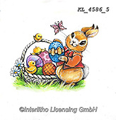 EASTER, OSTERN, PASCUA, paintings+++++,KL4586/5,#e#, EVERYDAY ,rabbit,rabbits ,sticker,stickers,