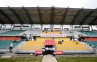 Catherine Hall Stadium, signage.  Canada played Panama during the CONCACAF Men's Under 17 Championship at Catherine Hall Stadium in Montego Bay, Jamaica.