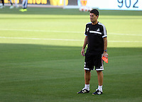 Valencia, Spain. Wednesday 18 September 2013<br /> Pictured: Swansea manager Michael Laudrup.<br /> Re: Swansea City FC training ahead of their UEFA Europa League game against Valencia C.F. at the Estadio Mestalla, Spain,