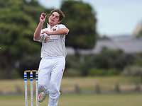Action from the Hazlett Cup two-day Wellington men's cricket match between Petone-Riverside and North City at Petone Recreation Ground in Petone, New Zealand on Sunday, 21 March 2021. Photo: Dave Lintott / lintottphoto.co.nz