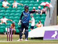Kent stand-in captain Ollie Robinson directs his field during Kent Spitfires vs Durham, Royal London One-Day Cup Cricket at The Spitfire Ground on 22nd July 2021