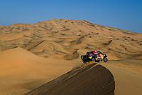 4th January 2021; Dakar Rally stage 2;  #307 Przygonski Jakub (pol), Gottschalk Timo (deu), Toyota, Overdrive Toyota, Auto, action during the 2nd stage of the Dakar 2021 between Bisha and Wadi Al Dawasir, in Saudi Arabia on January 4, 2021
