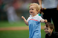 Rochester Red Wings baby race promotion during an International League game against the Pawtucket Red Sox on June 28, 2019 at Frontier Field in Rochester, New York.  Pawtucket defeated Rochester 8-5.  (Mike Janes/Four Seam Images)