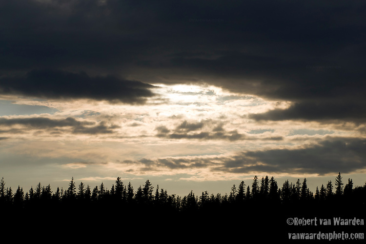 Sunset over Fort Chipewyan