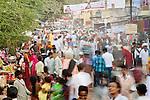 Crowds at an outdoor market, Bundi, India