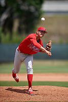 Philadelphia Phillies pitcher Francisco Morales (29) delivers a pitch during a minor league Spring Training game against the Pittsburgh Pirates on March 24, 2017 at Carpenter Complex in Clearwater, Florida.  (Mike Janes/Four Seam Images)