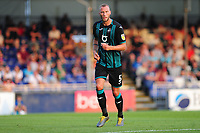 Mike van der Hoorn of Swansea City in action during the pre-season friendly match between Bristol Rovers and Swansea City at The Memorial Stadium in Bristol, England, UK. Tuesday, 23 July 2019