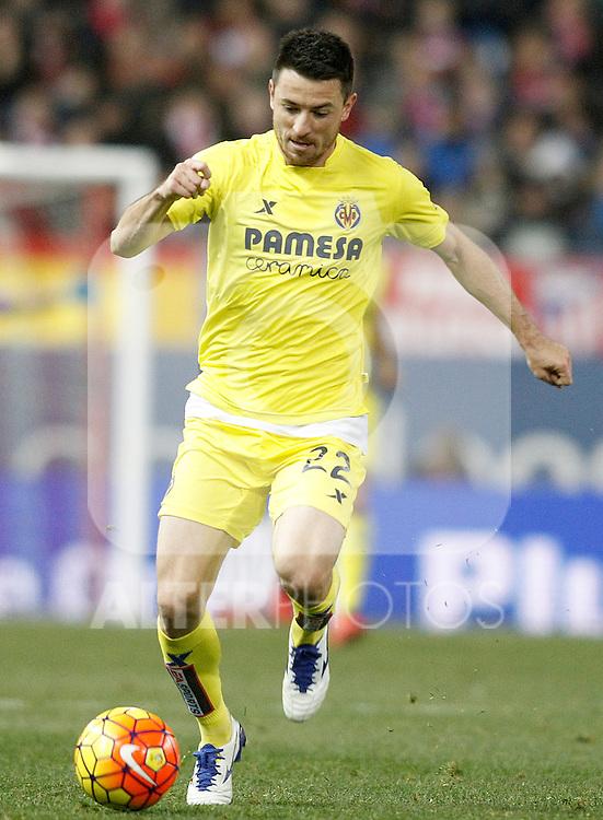 Villareal's Antonio Rukavina during La Liga match. February 21,2016. (ALTERPHOTOS/Acero)