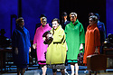 """EMBARGOED UNTIL 18 NOVEMBER AT 19:30 (7:30PM). London, UK. 16.11.2017. English National Opera presents Nico Muhly's """"Marnie"""" at the London Coliseum.  This production is directed by Michael Mayer, lighting design by Kevin Adams, set and projection design by Julian Crouch, costume design by Arianne Phillips choreography by Lynne Page. The cast is: Sasha Cooke (Marnie), Daniel Okulitch (Mark Rutland), James Laing (Terry Rutland), Lesley Garrett (Mrs Rutland), Kathleen Wilkinson (Marnie's mother), Diana Montague (Lucy, Marnie's mother's neighbour), Alasdair Elliott (Mr Strutt), Eleanor Dennis (Laura Fleet), Matthew Durkan (Malcolm Fleet), Darren Jeffery (Dr Roman), Alexa Mason(Dawn, secretary at Halcyon Printing), Charlotte Beament (shadow Marnie), Katie Coventry (shadow Marnie), Emma Kerr (shadow Marnie), Katie Stevenson (shadow Marnie), Leo Sellis (little boy), David Newman (Derek), Susanna Tudor-Thomas (Miss Fedder, office supervisor), Ella Kirkpatrick (Marnie's mother, 1940).  Picture shows:  Sasha Cooke (Marnie), Charlotte Beament/ Katie Coventry/ Emma Kerr/ Katie Stevenson (Shadow Marnies). Photograph © Jane Hobson."""