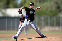 Colorado Rockies pitcher Tyler Matzek (35) during an instructional league game against the Los Angels Angels of Anaheim on September 30, 2013 at Tempe Diablo Stadium Complex in Tempe, Arizona.  (Mike Janes/Four Seam Images)