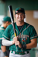 Outfielder Matthew Gorski (36) of the Greensboro Grasshoppers poses for a portrait before a game against the Greenville Drive on Friday, July 23, 2021, at Fluor Field at the West End in Greenville, South Carolina. (Tom Priddy/Four Seam Images)