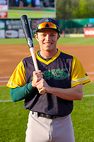 Beloit Snappers shortstop Nick Allen (2) poses for a photo prior to a Midwest League game against the Wisconsin Timber Rattlers on May 17, 2018 at Fox Cities Stadium in Appleton, Wisconsin. Beloit defeated Wisconsin 8-7. (Brad Krause/Four Seam Images)