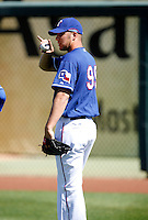 Andrew Laughter  - Texas Rangers - 2009 spring training.Photo by:  Bill Mitchell/Four Seam Images