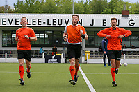 Assistant referee Tom Dillen during the warm up before  a female soccer game between Oud Heverlee Leuven and AA Gent Ladies on the 9 th matchday of play off 1 in the 2020 - 2021 season of Belgian Womens Super League , saturday 22 nd of May 2021  in Heverlee , Belgium . PHOTO SPORTPIX.BE | SPP | SEVIL OKTEM