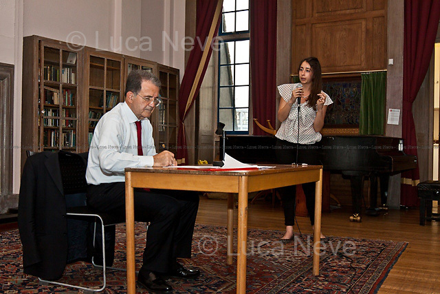 """""""Taking Notes"""". Romano Prodi,former Italian Prime Minister and former President of the European Commission.<br /> <br /> For more pictures on this event click here: <a href=""""http://bit.ly/NV1kBb""""> http://bit.ly/NV1kBb</a>"""