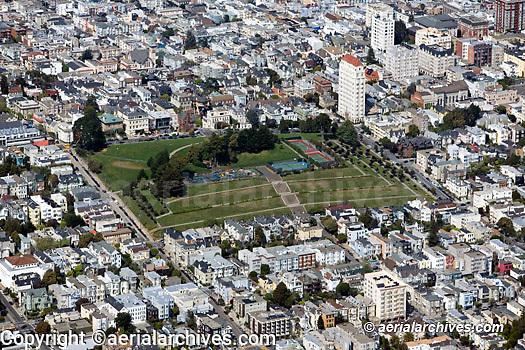aerial photograph Alta Plaza park Pacific Heights San Francisco landscape architecture