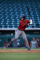 AZL Dbacks Sergio Gutierrez (9) at bat during an Arizona League game against the AZL Cubs 2 on June 25, 2019 at Sloan Park in Mesa, Arizona. AZL Cubs 2 defeated the AZL Dbacks 4-0. (Zachary Lucy/Four Seam Images)