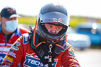 Sep 5, 2020; Clermont, Indiana, United States; NHRA top alcohol dragster driver Josh Hart during qualifying for the US Nationals at Lucas Oil Raceway. Mandatory Credit: Mark J. Rebilas-USA TODAY Sports